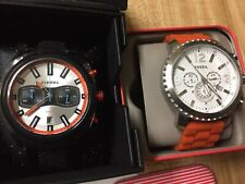 CLEARANCE SALE!FOSSIL GAGE AND DIESEL TUMBLER SPORT COMBO CHRONOGRAPH WATCH