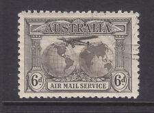 6d Brown Airmail Cto Full Gum