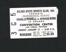 RARE 1966 boxing ticket CHARLIE POWELL vs HOWARD KING fought Ali Norkus