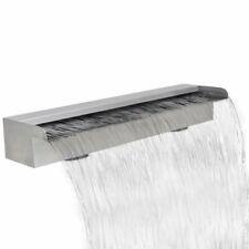 "vidaXL Waterfall Pool Stainless Steel 23.6"" Cascade Fountain Garden Outdoor"