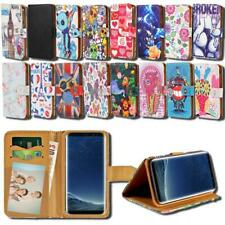 For Samsung Galaxy S6 S7 S8 Phones - Leather Smart Stand Wallet Cover Case