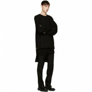Balmain Oversize Wool Crewneck A Dos Long Sweat size S Sweatshirt