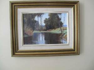 ORIGINAL OIL PAINTING BY LEONARD LONG 'A QUIET POOL'  BERRY N.S.W