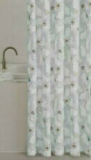 Fabric Shower Curtain Bunnies Flowers Gray White 70x70