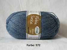 flotte Socke Uni RELLANA 4fach 100g Sockenwolle Jeans blau 972