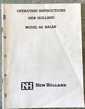 1964 New Holland Model 66 Baler Operating Instructions 20 Pg
