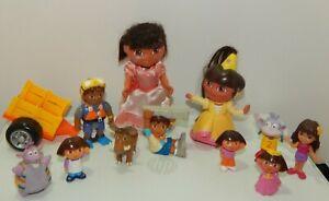 Dora the Explorer Boots, Tico, Diego & More Figures Toy Lot 12 Piece