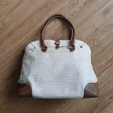 RRP £395 FURLA Genuine Leather Handbag Beige Brown Croc Large Designer Tote