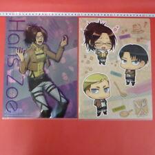 Attack on Titan Hange zoe Clear File set Japan Anime Banpresto/g727