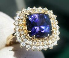 Tanzanite Ring Gold Diamond Natural 7.21CTW UNHEATED GIA Certified RETAIL $13700