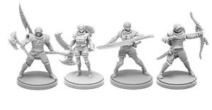 4 x KIT ARMURE SUNSTALKER - KINGDOM DEATH MONSTER miniature rpg jdr ARMOR