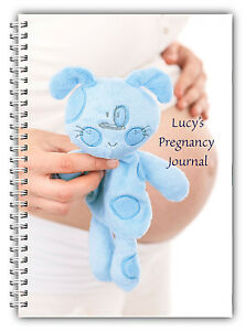 A5 PERSONALISED BABY BOY TEDDY BEAR NEW MUM PREGNANCY DIARY JOURNAL GIFT 02