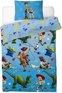DISNEY TOY STORY 4 Buzz Woody Jessy Dino SINGLE Bed Quilt Doona Cover Set