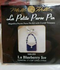 MILL HILL La Petite Purse Pin Peyote Beading KIT ~New ~ Blueberry Ice