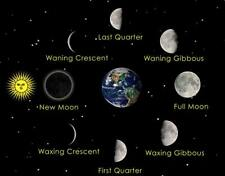 MOON PHASES CYCLE GLOSSY POSTER PICTURE PHOTO PRINT sun moon orbit lunar 4212