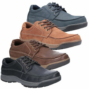 Mens Hush Puppies Tucker Casual Lace Up Smart Leather Shoes Sizes 6 to 12