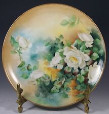 Beautiful  Limoges France  Plate  Gold Trim Roses