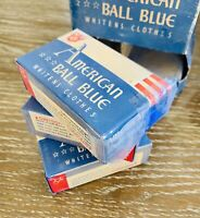 Vintage 1930's American Ball Blue Clothes Whitener Case With 3 Boxes *RARE*