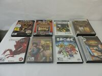 8 PC Computer Games Lot  Age of Empires Dragon Age SPORE SLOTS MORE