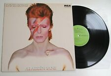 DAVID BOWIE - ALADDIN SANE LP VINYL EX/N MINT Rare 1981 UK Green A1/B1 Album