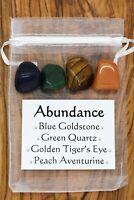Abundance Crystal Gift Set Blue Goldstone Tiger's Eye Quartz Peach Aventurine