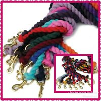 RHINEGOLD DELUXE SOLID BRASS CLIP LEADROPE 4 HEADCOLLAR OVER 20 COLOURS
