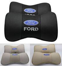 2pcs Car Auto Seat cowhide Protect Neck Rest Belt Headrest Pads for fit NEW