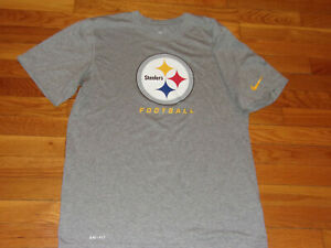 NIKE DRI-FIT PITTSBURGH STEELERS SHORT SLEEVE JERSEY MENS MEDIUM EXCELLENT COND.