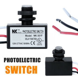 Photoelectric Photocell Dusk to Dawn Button Flush Mount Photo Control Switch US
