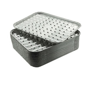 30 Stück Grillschale Aluminium Grillpfanne Grillen Alu Grillschalen 28x23x2cm