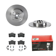 Brembo | 2 Bremsscheiben Voll 249 mm + Bremsbeläge Hinten für PEUGEOT|CITROEN