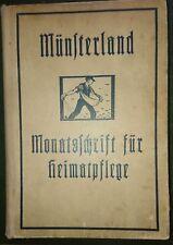 Münsterland Monatsschrift Jahrgang 1919 mit Original-Holzschnitt Heinrich Everz.