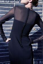 EMILIO PUCCI BLACK GEORGETTE INSERT DRESS UK 14 US 10/12 IT46