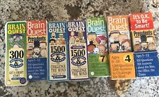 Brain Quest - Lot of 9 Decks For Different Ages