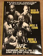 Vintage Official 2007 UFC 73 Poster 39x27 Anderson Silva Tito Ortiz