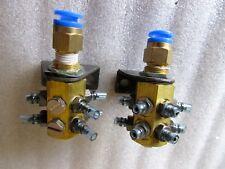 Pneumatic Air Distribution Manifolds Hub Lot of 2 SMC Brass Metal Construction