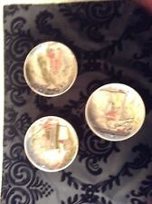 Vintage Johnston brothers Ironstone brown transferware, 3small scenic dishes.