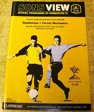 Dumbarton Scottish Cups Home Teams C-E Football Programmes