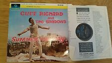 CLIFF & THE SHADOWS SUMMER HOLIDAY - MONO 33SX1472 - LP