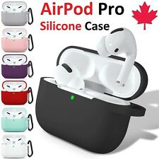 Silicone Airpod Pro Case Soft Cover With Belt Clip For Apple AirPods Pro 2019