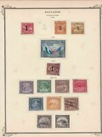 salvador stamps page ref 17169