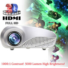 5000 lúmenes HD 1080p Cine en casa Proyector 3d LED Portátil SD VGA HDMI USB
