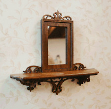 Dollhouse Miniature 1:12 Rosewood Fretwork Mirror - Artist Made Furniture