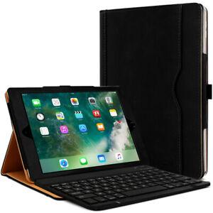 Clavier AZERTY + Étui de Protection Noir pour Apple iPad Air 1 / Air 2 (9.7 Pouc