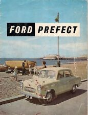 Ford Prefect 100E 1956-57 UK Market Sales Brochure Standard De Luxe Anglia