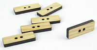 6pcs Large Wooden Buttons 30mm/Rectangle Shape/Laser Cut/Beads/Sewing/Crafts