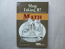 STOP FAKING IT! MATH by William C. Robertson, Ph.D. 2006 pb NSTApress