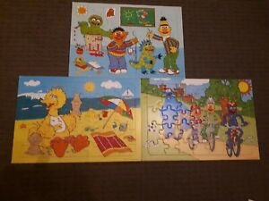3 x Sesame Street Tray Puzzles *USED