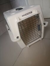used small dog cage white aluminium side light vari kennel