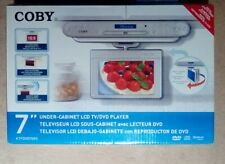 "Coby 7"" Silver Under Cabinet LCD TV/DVD Player with AM/FM Radio + Remote in Box"